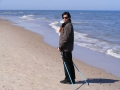 Nordic walking nad morzem